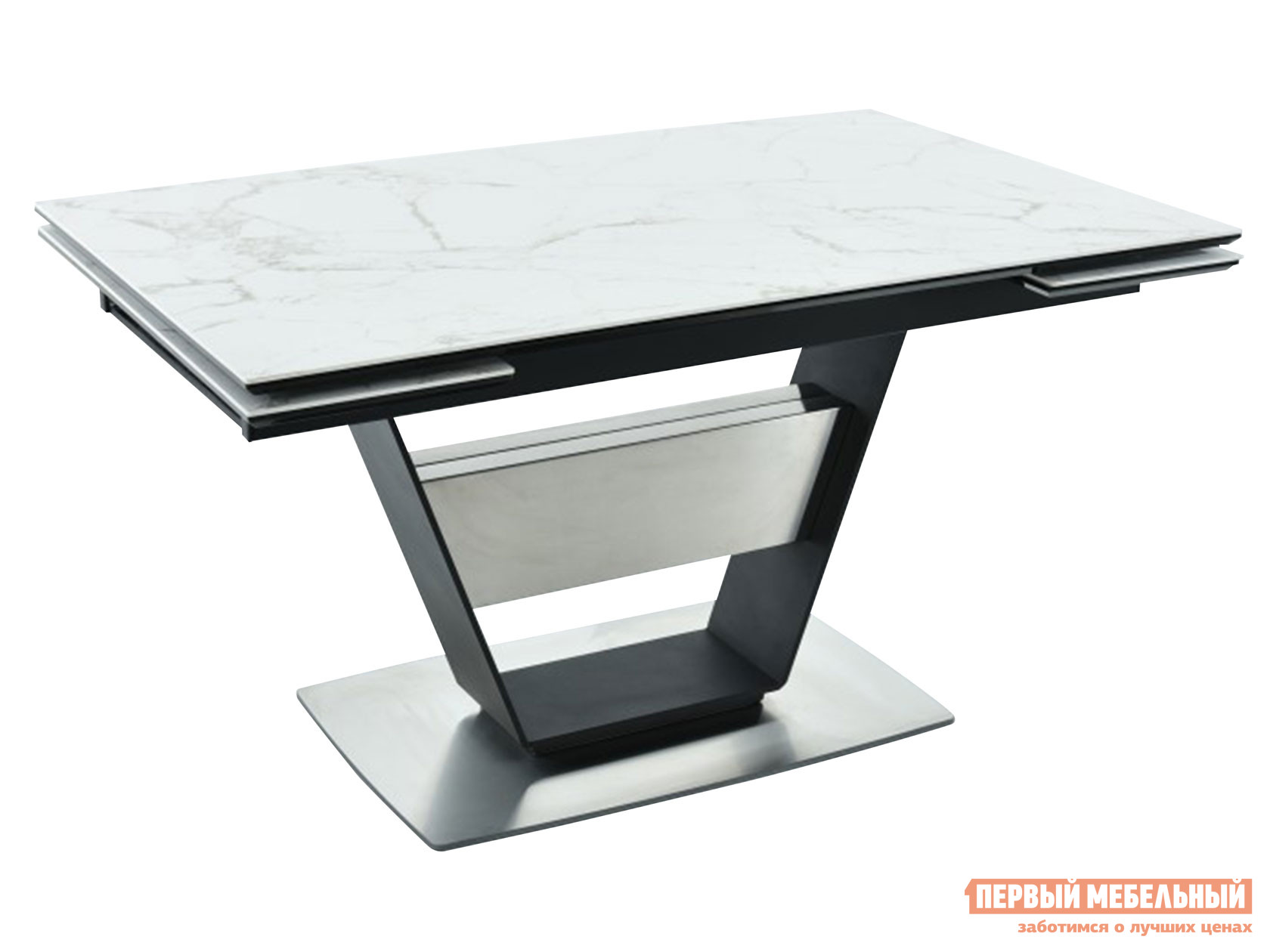 Кухонный стол  Мальта Calacata vagli / Черный, металл Мебвилл 127371