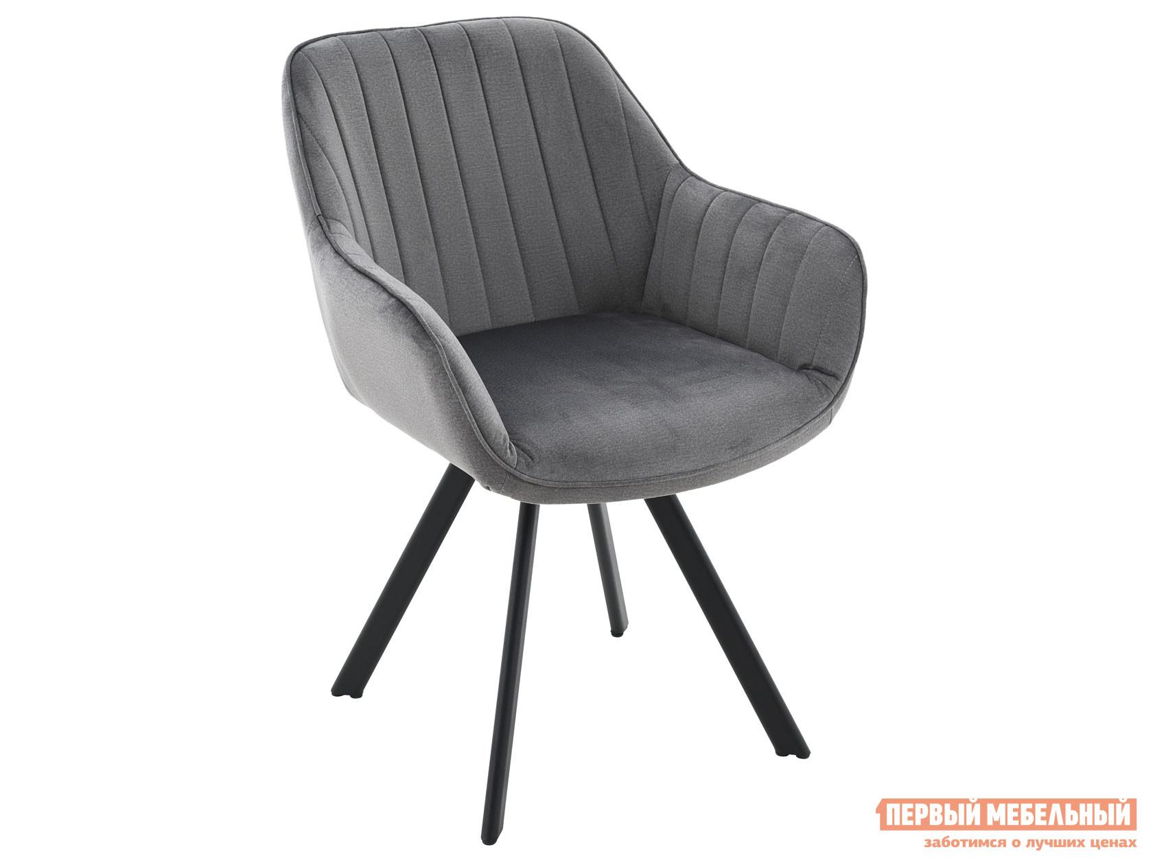 Стул  Роан Серый, велюр / Черный, металл Мебвилл 127386