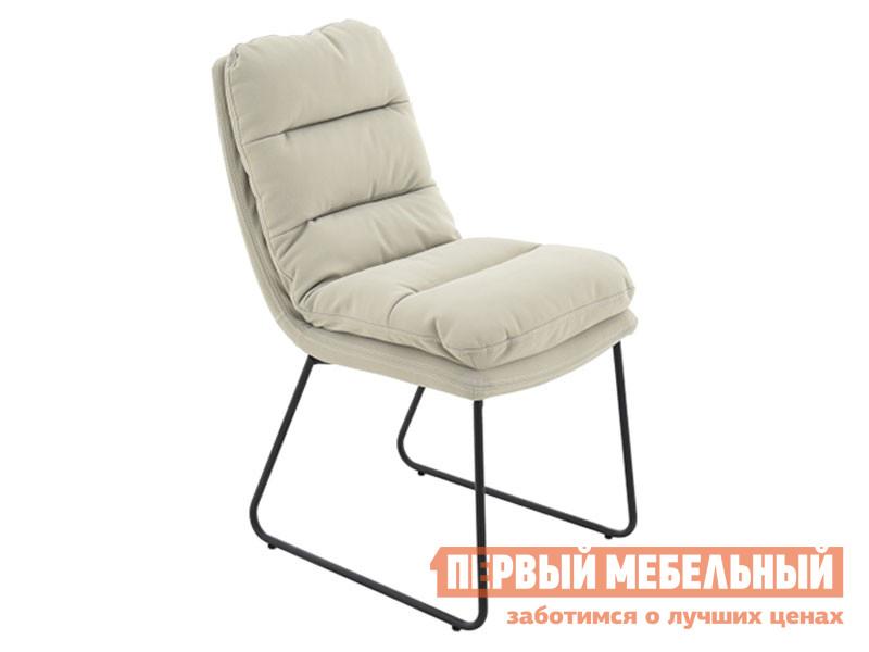 Стул  Софт Бежевый, экокожа / Черный, металл Мебвилл 127393