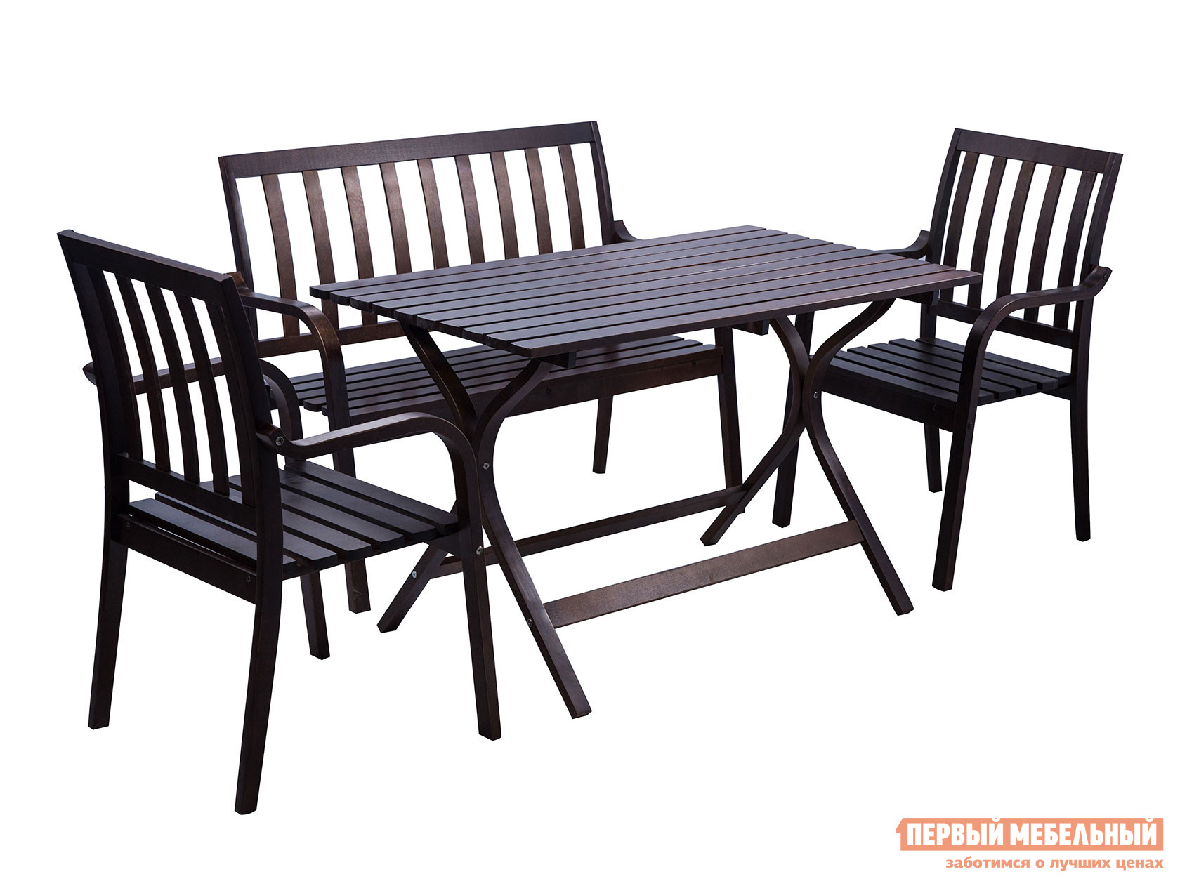 Комплект садовой мебели Mebwill Стол Берн + Диван Берн + 2 кресла Берн