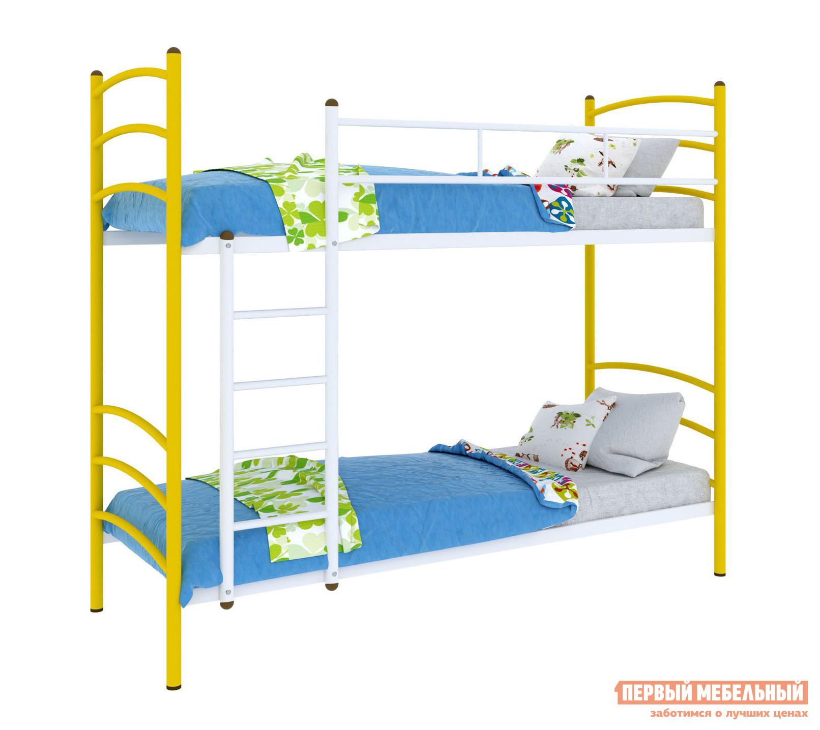 Двухъярусная кровать для взрослых Mebwill Милана Duo лестница слева