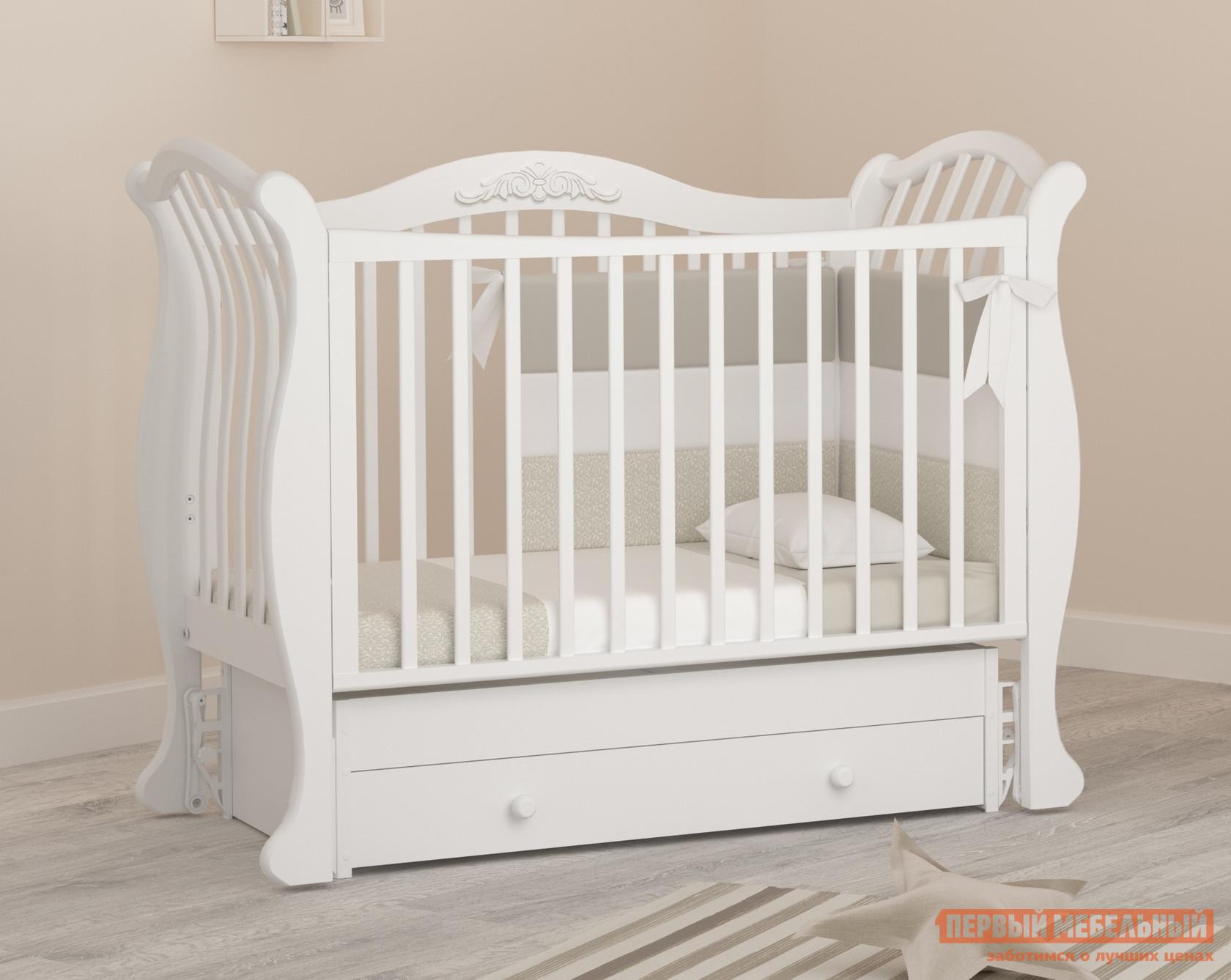 Кроватка Гандылян Габриэлла люкс К-2002-31м детские кроватки гандылян габриэлла люкс качалка