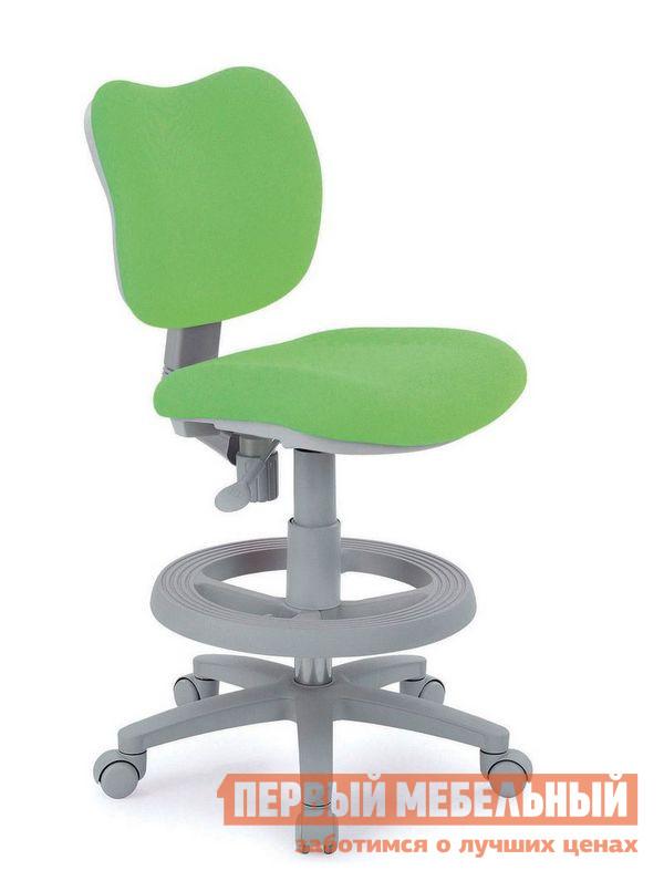 Компьютерное кресло TCT Nanotec KIDS CHAIR (EC4048) Ткань зеленая TCT Nanotec Габаритные размеры ВхШхГ 820 / 980x580x580 мм. Эргономичное яркое кресло Кидс Чаир на газ-лифте.  Кресло имеет много настроек для спинки и сидения: глубина сиденья изменяется от 37 см до 42 см, высота сидения: от 45 см до 58 см. <br> Колеса автоматически блокируются при нагрузке более 30 кг.  Это не позволит ребенку кататься в кресле и сохраняет правильную осанку за столом. <br> В комплекте с креслом идет съемная подставка для ног, расположенная на 360° вокруг ножки.  Благодаря подставке креслом может пользоваться даже маленький ребёнок. <br> Обивка кресла выполнена из ткани. <br>Максимальная нагрузка на изделие — 80 кг. <br>