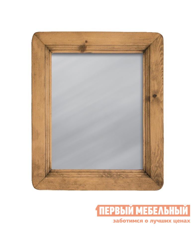 Настенное зеркало Волшебная сосна MIRMEX 50 x 60 Массив сосныНастенные зеркала<br>Габаритные размеры ВхШхГ 600x500x мм. Настенное зеркало в массивной деревянной раме отлично впишется в классический интерьер гостиной, спальни или прихожей. Рама выполняется из массива сосны, деревянная поверхность не лакированная, она обработана защитным воском. Изделие поставляется в собранном виде.  В сборку изделия входит только крепление к стене. Рамка имеет толщину 25 мм и ширину 90 мм. Обратите внимание! Часто поверхность дерева искусственно состаривается, наносятся потертости, небольшие сколы, а также древоточены.  Это не является браком, это делается специально в декоративных целях.<br><br>Цвет: Светлое дерево<br>Высота мм: 600<br>Ширина мм: 500<br>Кол-во упаковок: 1<br>Форма поставки: В собранном виде<br>Срок гарантии: 1 год<br>Тип: Простые<br>Назначение: Для спальни<br>Назначение: В прихожую<br>Материал: Дерево<br>Материал: Натуральное дерево<br>Порода дерева: Сосна<br>Форма: Прямоугольные<br>Подсветка: Без подсветки<br>Тип рамы: В раме