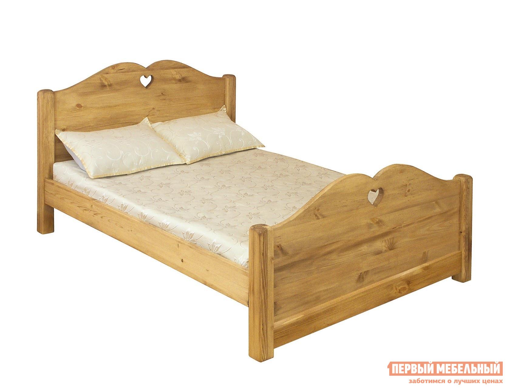 Двуспальная кровать из массива дерева Волшебная сосна LIT COEUR 140 (LCOEUR 140) / LIT COEUR 160 (LCOEUR 160) кровать из массива дерева seventh workshop pine lakes lb03