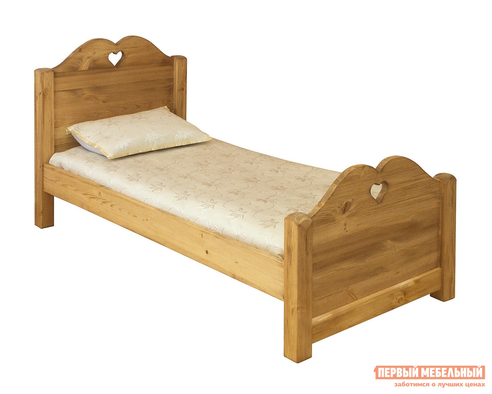 Односпальная кровать из сосны Волшебная сосна LIT COEUR 90 (LCOEUR 90) волшебная сосна комод волшебная сосна confiturier roberto массив сосны
