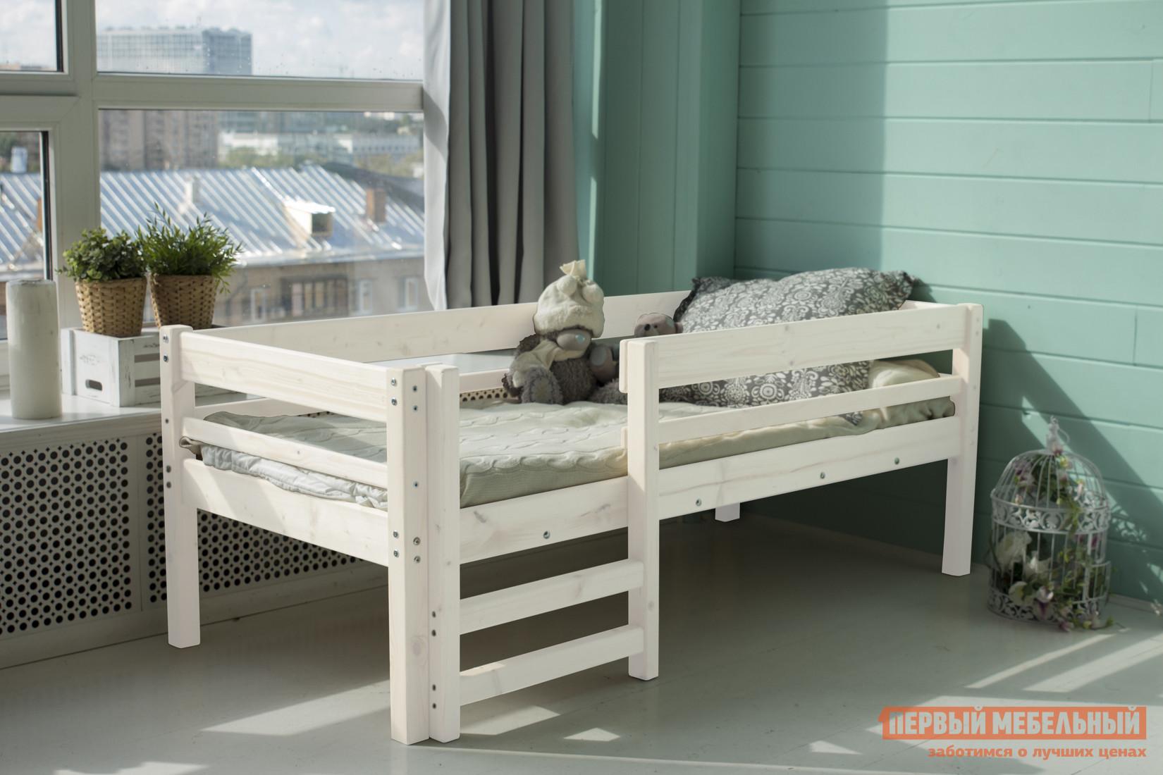 Детская кровать Green Mebel Твинни / Тедди Белый