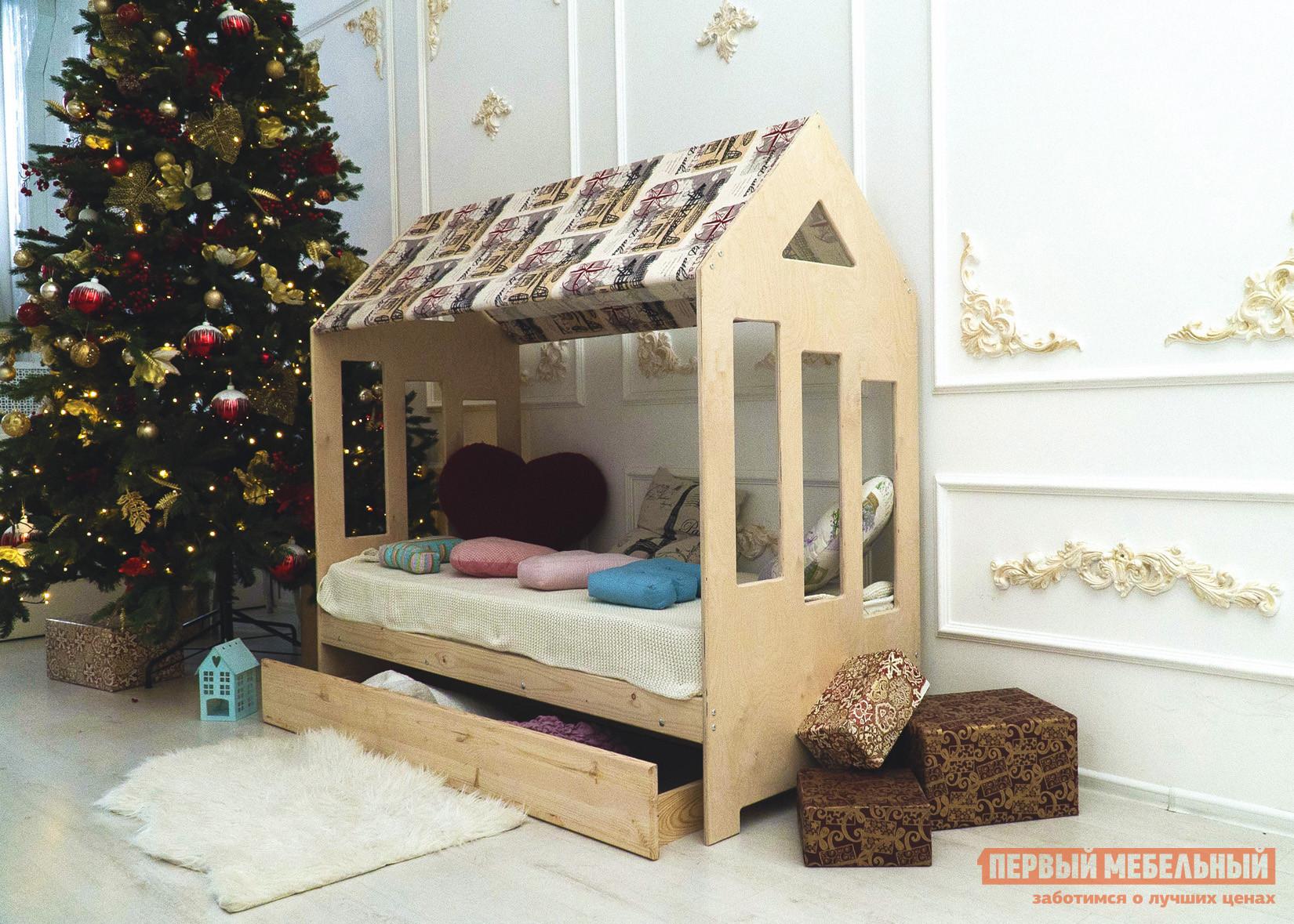 Детская кровать Green Mebel Хоббит Натуральный, 700 Х 1900 мм