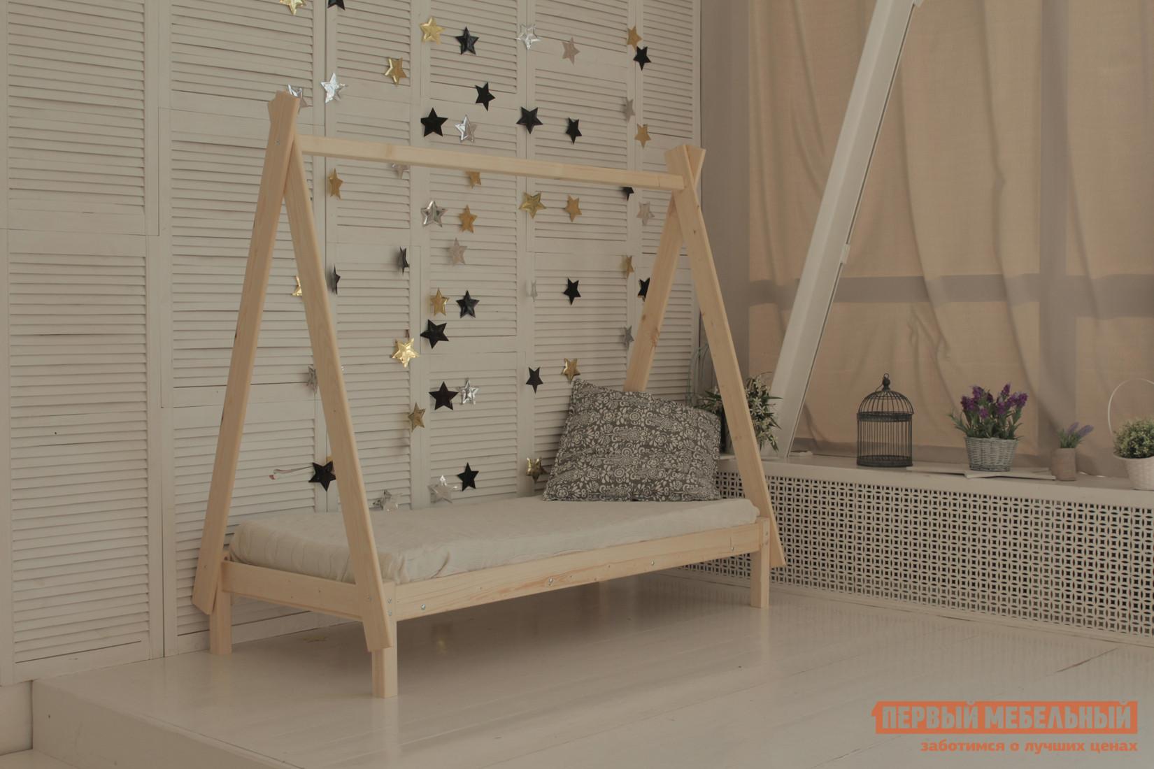 Детская кровать Green Mebel Вигвам Натуральный, 700 Х 1600 мм