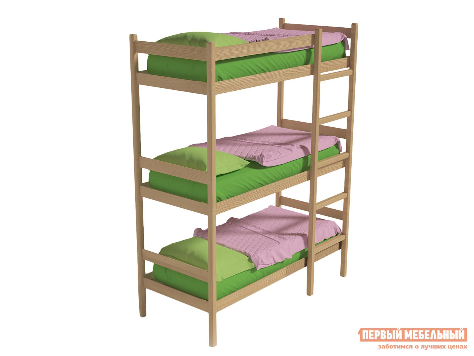 Трехъярусная кровать Green mebel Трехъярусная кровать
