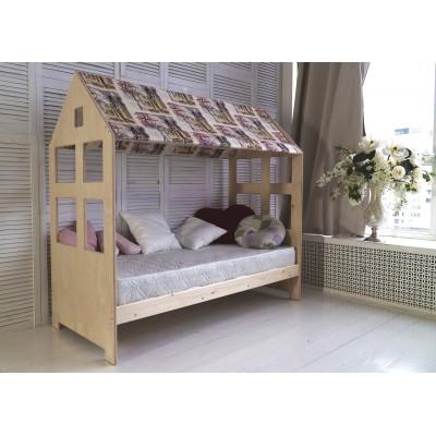 Детская кровать Green Mebel Гномик 700 Х 1900 мм, Натуральный