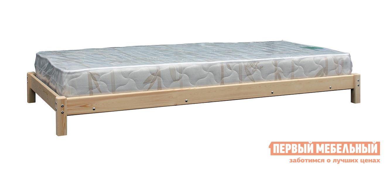 Односпальная кровать Green Mebel Кровать-тахта с матрасом Натуральный, С матрасом