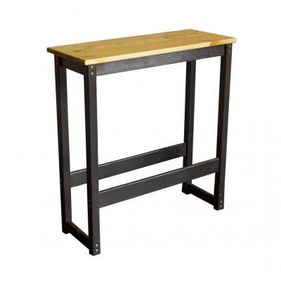 Барный стол Green Mebel Стол барный Куба Черный / Сосна лак