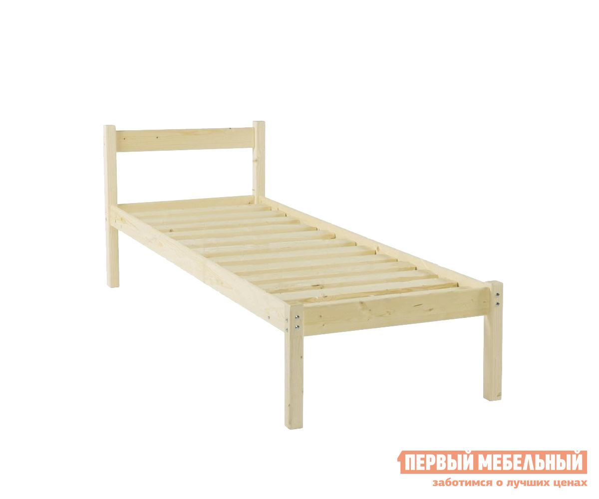 Односпальная кровать  Кровать одноярусная Т1 1200 Х 2000 мм, Натуральный