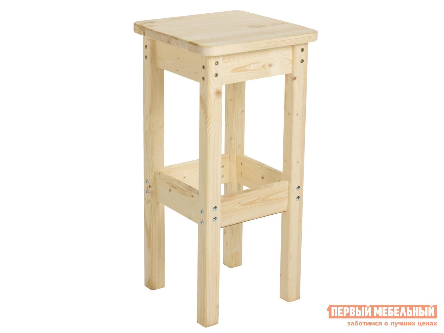 Барный стул  Барный стул 400х400 высота 80 см Натуральный