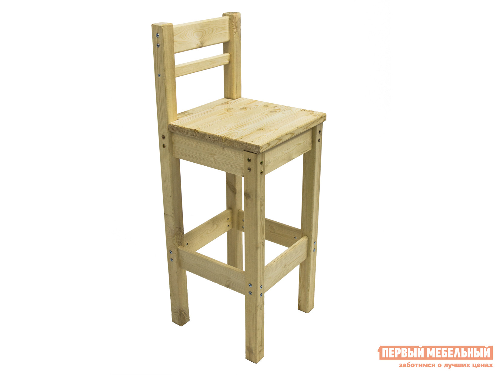 Барный стул Green Mebel Барный стул с высокой спинкой Натуральный