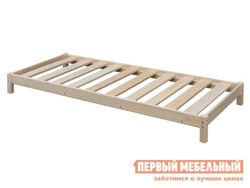 Односпальная кровать  Кровать-тахта с матрасом / без матраса Натуральный, С матрасом