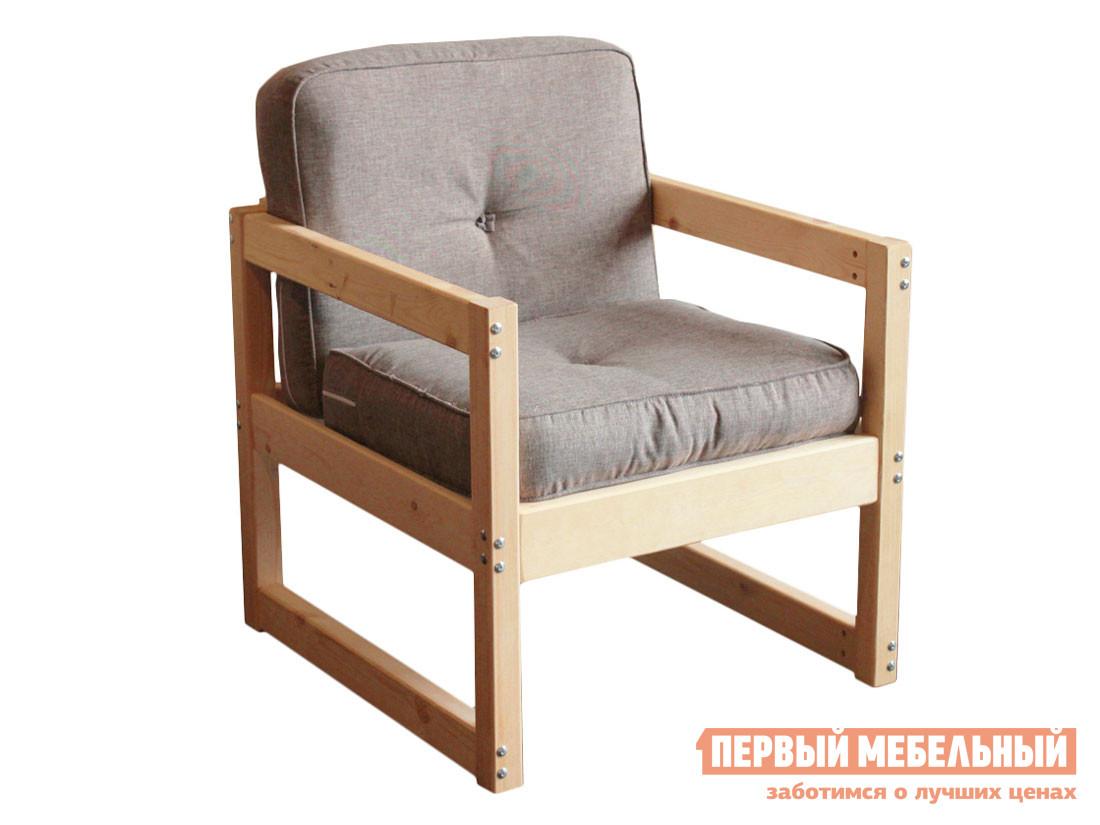 Садовое кресло  Кресло из массива Серая рогожка — Кресло из массива Серая рогожка