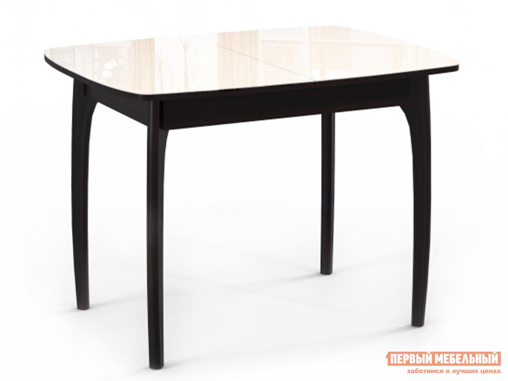 Обеденный стол  М15 ДН4 Венге / Стекло бежевое