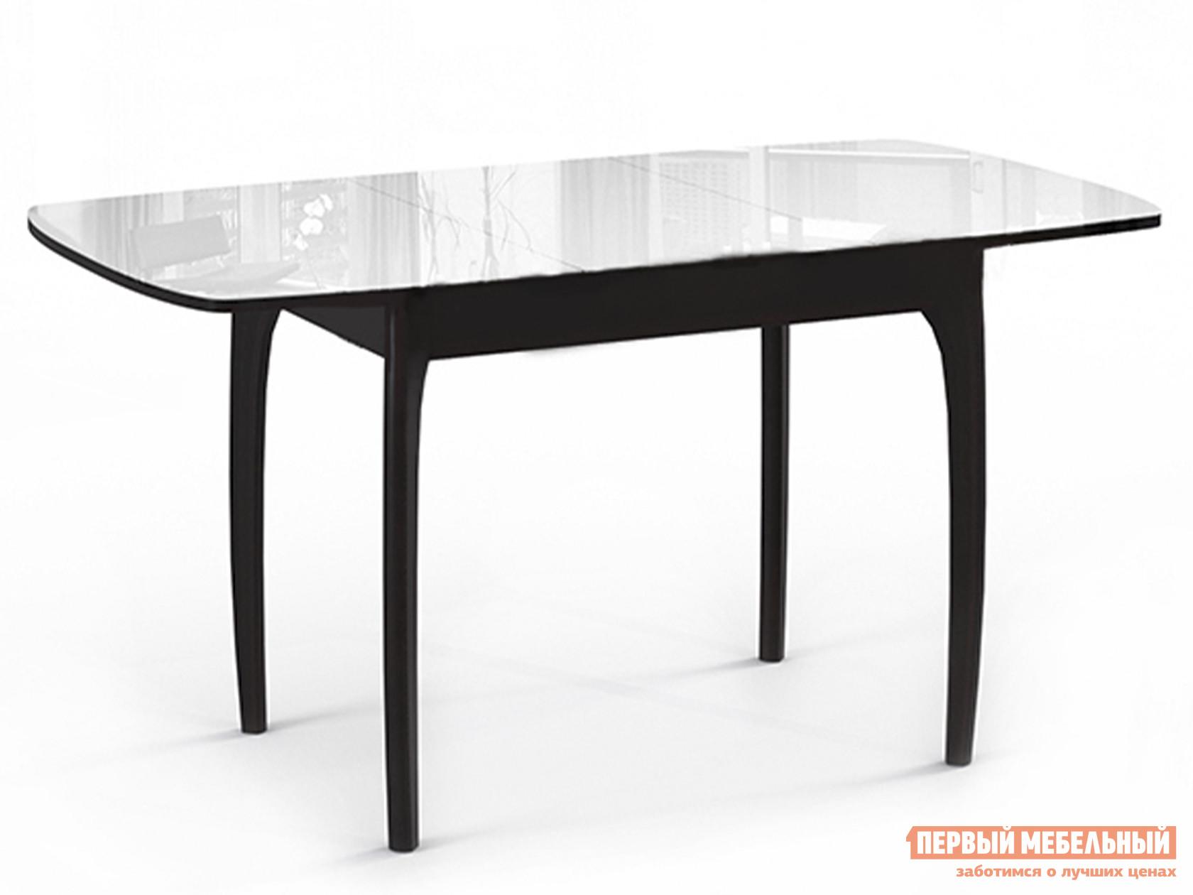 Обеденный стол  М15 ДН4 Венге / Стекло белое
