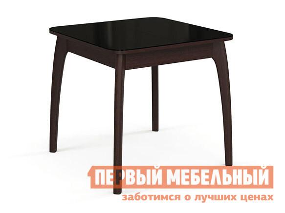 Кухонный стол Стол №45 ДН4 Венге / Стекло черное фото