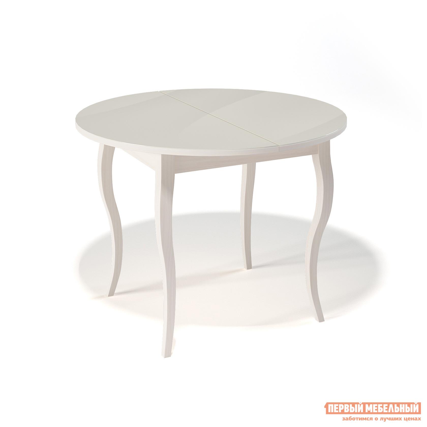 Круглый кухонный стол глянцевый ДИК KENNER 1000С круглый кухонный стол глянцевый дик kenner 1000с венге стекло черное