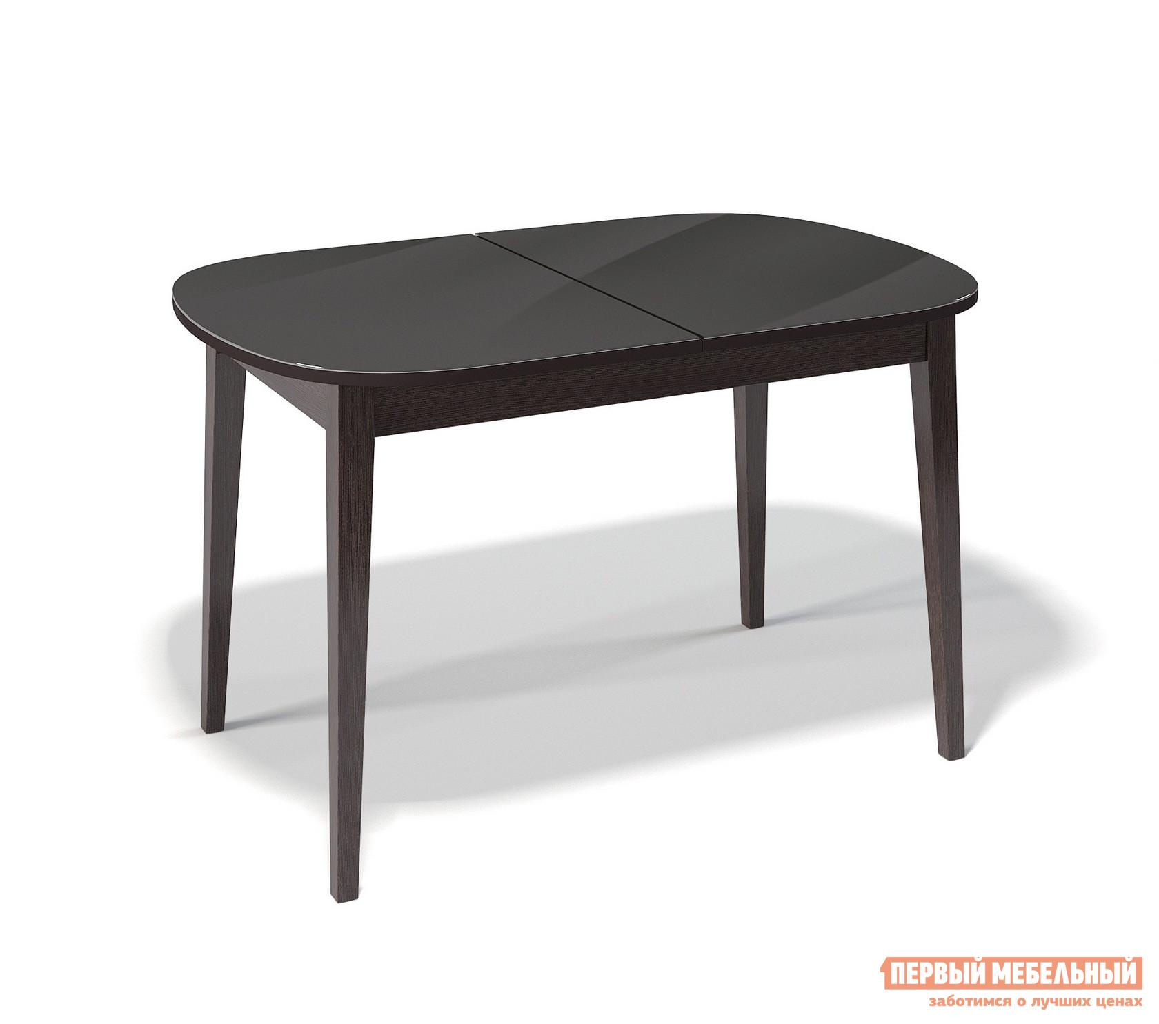 Кухонный стол глянцевый ДИК KENNER 1300М круглый кухонный стол глянцевый дик kenner 1000с венге стекло черное