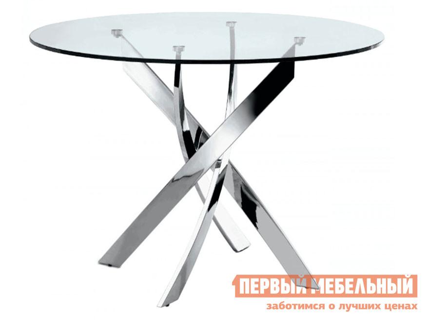 Круглый кухонный стол стеклянный ДИК Канди