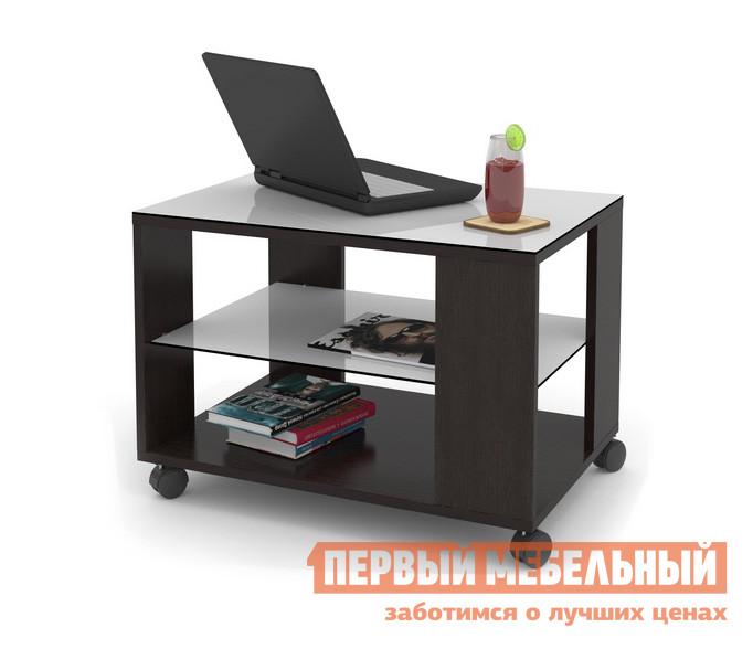 Журнальный столик ДИК MAYER 3 Венге / Стекло белое