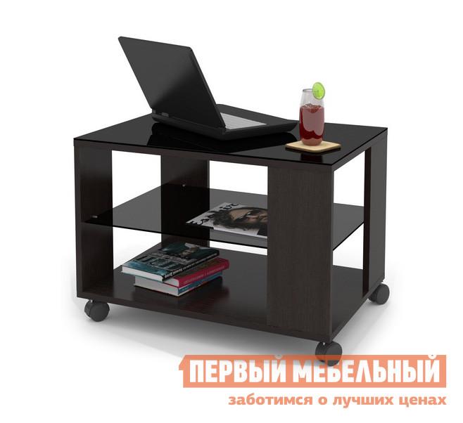 Журнальный столик ДИК MAYER 3 Венге / Стекло черное