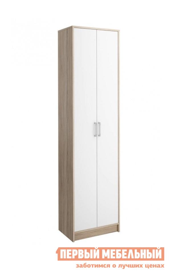 Шкаф распашной СтолЛайн СТЛ.117.04М Дуб сонома / БелыйШкафы распашные<br>Габаритные размеры ВхШхГ 2080x544x343 мм. Двустворчатый классический шкаф для прихожей поможет сохранить вашу верхнюю одежду в порядке. Сверху расположена антресольная полка, а под ней удобная выдвижная штанга для одежды на вешалках.  Шкаф изготовлен из КДСП.<br><br>Цвет: Дуб сонома / Белый<br>Цвет: Белый<br>Цвет: Светлое дерево<br>Высота мм: 2080<br>Ширина мм: 544<br>Глубина мм: 343<br>Форма поставки: В разобранном виде<br>Срок гарантии: 18 месяцев<br>Тип: Прямые<br>Материал: Деревянные, из ЛДСП<br>Размер: Двухдверные<br>Особенности: С антресолью
