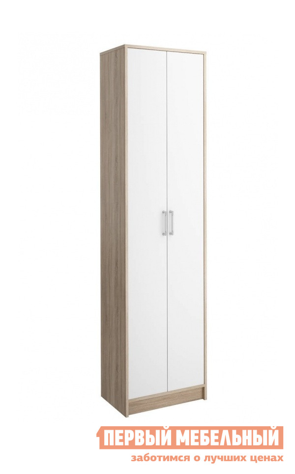 Шкаф распашной СтолЛайн СТЛ.117.04М Корпус Дуб сонома / Фасад Белый
