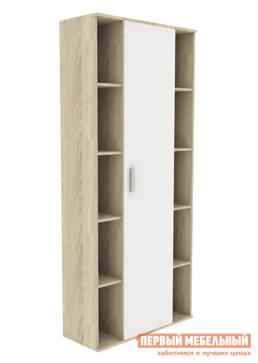 Шкаф распашной СтолЛайн СТЛ.135.10 Дуб Сонома / Белый глянец