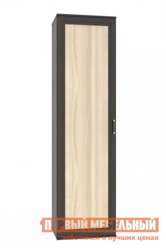 Шкаф распашной СтолЛайн СТЛ.224.05 Дуб феррара / Ясень шимо светлыйШкафы распашные<br>Габаритные размеры ВхШхГ 2150x580x505 мм. Вместительный шкаф в интересном темно-светлом исполнении.  Модель оборудована двумя полочками сверху и снизу, а также выдвижной штангой для плечиков. Шкаф выполнен из ЛДСП толщиной 16 мм, фасады имеют детали из МДФ.   Ручка изготовлена из пластика.<br><br>Цвет: Темное-cветлое дерево<br>Высота мм: 2150<br>Ширина мм: 580<br>Глубина мм: 505<br>Форма поставки: В разобранном виде<br>Срок гарантии: 18 месяцев<br>Тип: Прямые<br>Материал: Дерево<br>Материал: ЛДСП<br>Размер: Однодверные