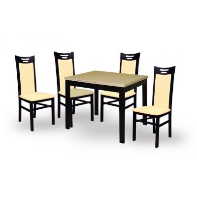 Обеденная группа для столовой и гостиной СтолЛайн Фиоре 4 + 4 шт. Парма Венге / КО 071 (кожзам)