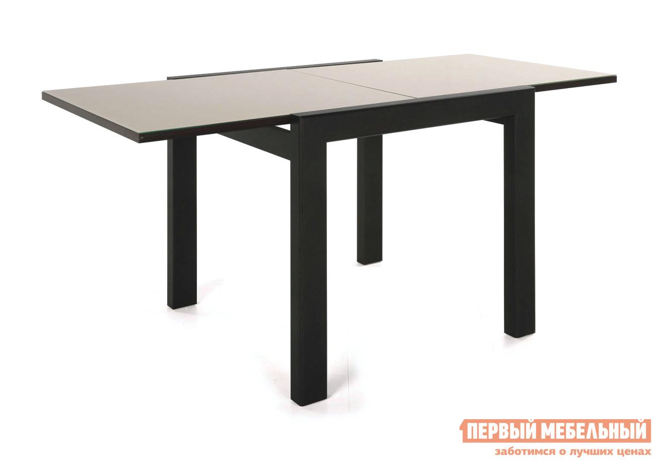 Кухонный стол  Джокер-Бизнес Венге / Стекло бежевое СтолЛайн 50674