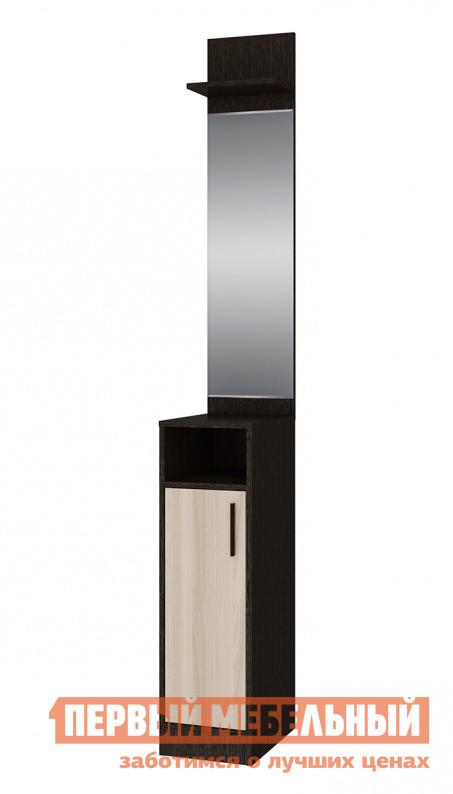 Прихожая СтолЛайн СТЛ.235.04 Венге / Ясень шимо светлыйПрихожие в коридор<br>Габаритные размеры ВхШхГ 2170x290x395 мм. Очень компактный вариант зеркала с тумбой в прихожую.  Несмотря на столь малую ширину — всего 290 мм, модель прекрасно справляется с хранением необходимых под рукой мелочей. Изделие выполнено из ЛДСП темного и светлого древесного оттенка.<br><br>Цвет: Венге / Ясень шимо светлый<br>Цвет: Темное-cветлое дерево<br>Высота мм: 2170<br>Ширина мм: 290<br>Глубина мм: 395<br>Форма поставки: В разобранном виде<br>Срок гарантии: 18 месяцев<br>Тип: Прямые<br>Характеристика: Немодульные<br>Материал: из ЛДСП<br>Размер: Маленькие, Глубиной до 40 см, Глубиной до 45 см<br>Особенности: С зеркалом, Без шкафа<br>Стиль: Модерн