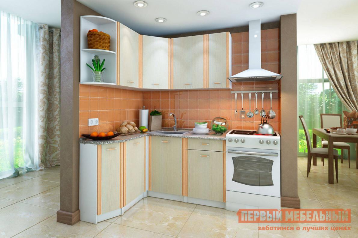 Кухонный гарнитур  СТЛ.122.00 Корпус белый / Фасады Дуб Кремона, Левый