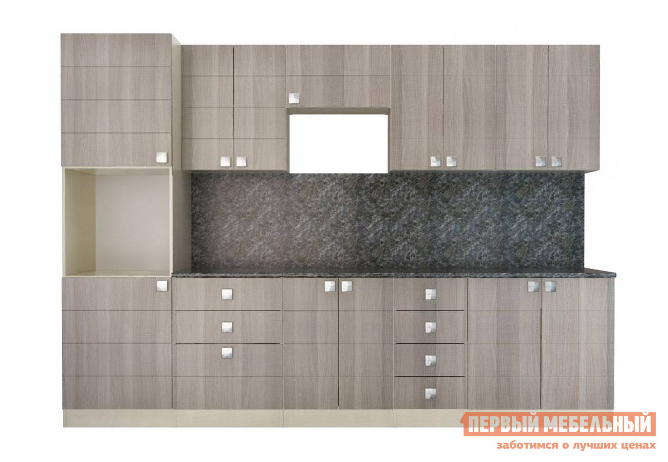 Кухонный гарнитур СтолЛайн Квадро 3000х600мм кухонный гарнитур столлайн эмилия светлая к1