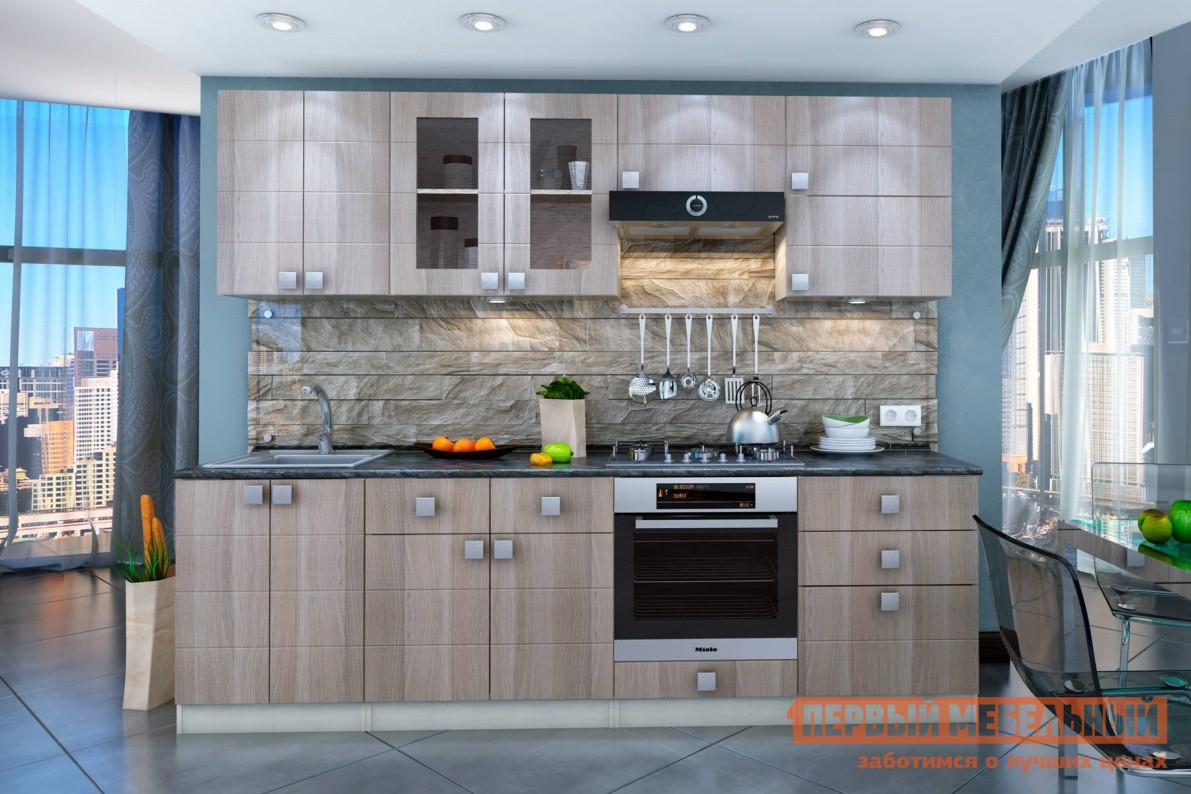 Кухонный гарнитур СтолЛайн Квадро 2600x600 мм кухонный гарнитур столлайн эмилия светлая к1