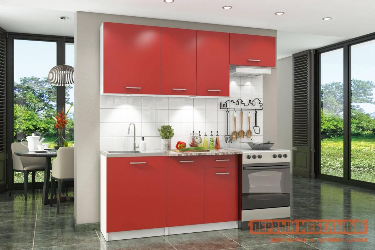 Кухня модульная СтолЛайн Бланка СТЛ.218.00 Корпус Белый / Фасады Красный Чили от Купистол