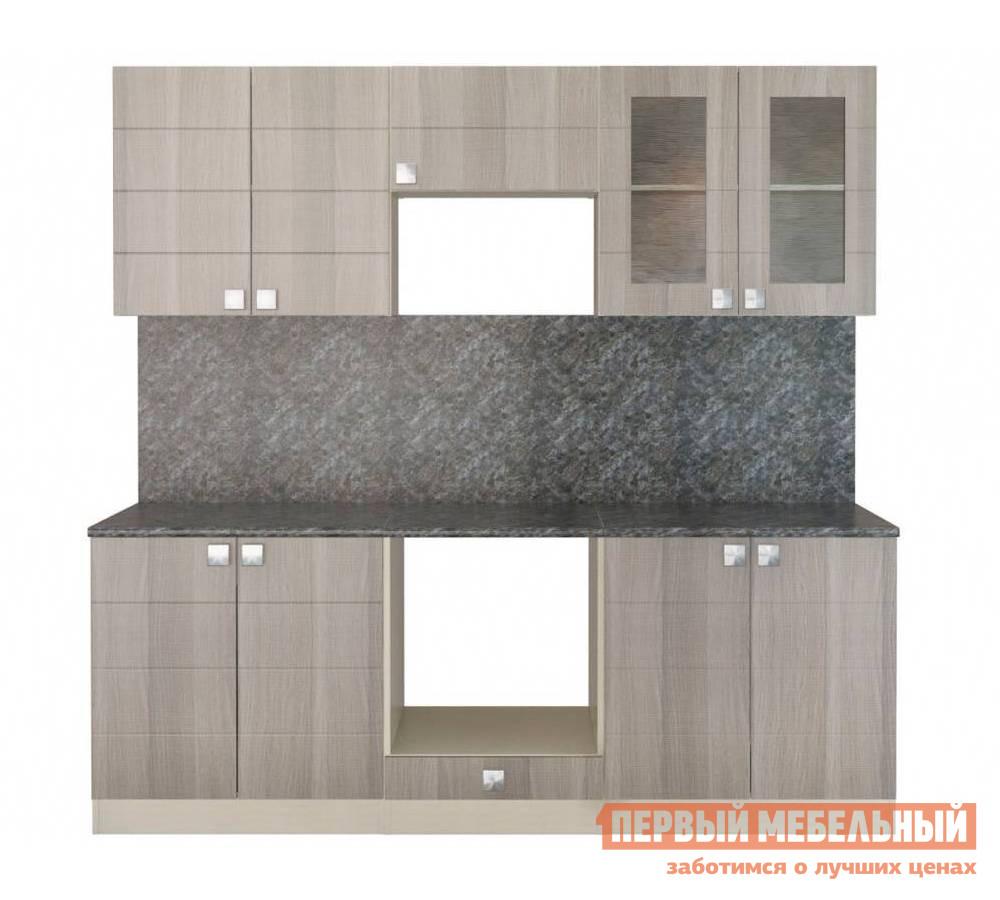Кухонный гарнитур СтолЛайн Квадро 2200x600 мм кухонный гарнитур столлайн эмилия светлая к1
