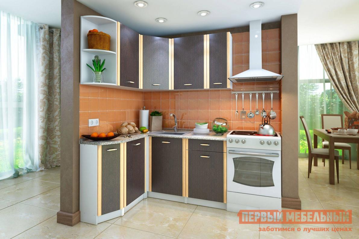 Кухонный гарнитур СтолЛайн СТЛ.123.00 Корпус Белый / Фасады ВенгеКухонные гарнитуры<br>Габаритные размеры ВхШхГ 2155x1400x1400 мм. Универсальное решение для кухни любого метража — угловой гарнитур с вместительными и функциональными элементами.  В комплект входят четыре напольных шкафа, объединенных столешницей, и пять навесных, включая открытый торцевой стеллаж.  В углу удобно расположена мойка. Обе части гарнитура (правая и левая) имеют одинаковую ширину — 1400 мм, а глубина шкафов составляет 600 мм со стороны мойки и 400 мм с торцевой стороны. Столешница выполнена из древесно-стружечной плиты толщиной 26 мм, покрытой пластиками высокого и непрерывного давления: HPL (High Pressure Laminate) и CPL (Continuous Pressure Laminat).  Это очень прочные не пористые материалы, они не впитывают запахи, устойчивы к влаге, механическому и химическому воздействию, легко моются. В комплект входят две части столешницы с размерами (ВхШхГ):26 х 1400 х 600 мм;26 х 769 х 400 мм. Фасады и каркасы элементов гарнитура выполнены из высокопрочной ЛДСП, устойчивой к температурным перепадам и механическим повреждениям.  Крепежная фурнитура выполнена из нержавеющей стали.  Ручки — пластик.  В ящике используются роликовые направляющие. В комплект также входит сушка для посуды с поддоном шириной 500 мм и угловое соединение для столешницы. Обратите внимание! Мойка в комплект гарнитура не входит, ее необходимо приобретать отдельно.  С подходящими моделями моек можно ознакомиться в разделе «Аксессуары».<br><br>Цвет: Белый<br>Цвет: Венге<br>Высота мм: 2155<br>Ширина мм: 1400<br>Глубина мм: 1400<br>Кол-во упаковок: 7<br>Форма поставки: В разобранном виде<br>Срок гарантии: 18 месяцев<br>Тип: Угловые<br>Материал: Дерево<br>Материал: ЛДСП<br>Размер: Ширина 140 см<br>Размер: Для маленькой кухни