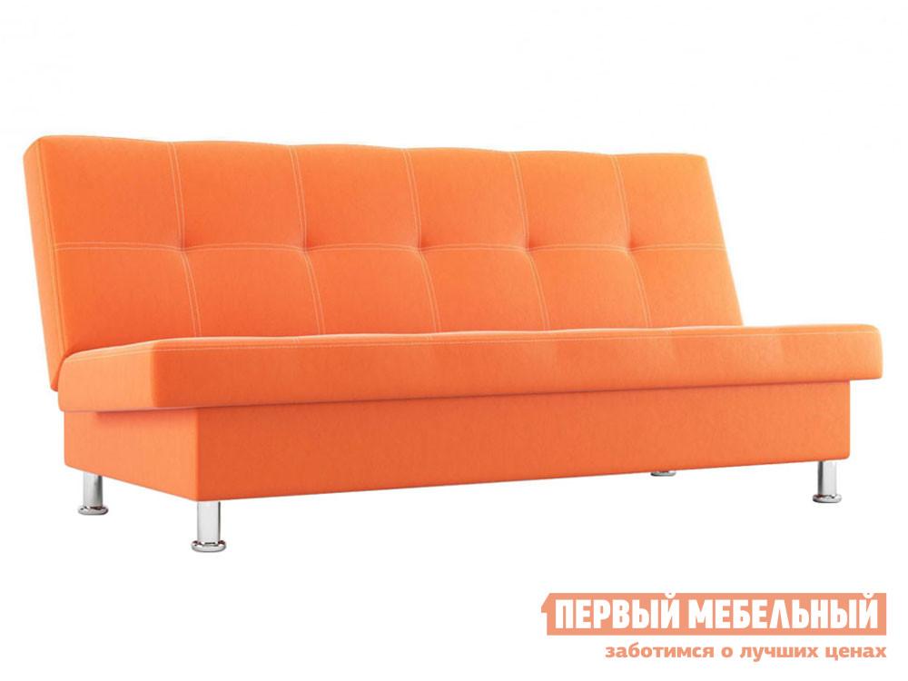 Прямой диван  Гастон Оранжевый, экокожа СтолЛайн 39706