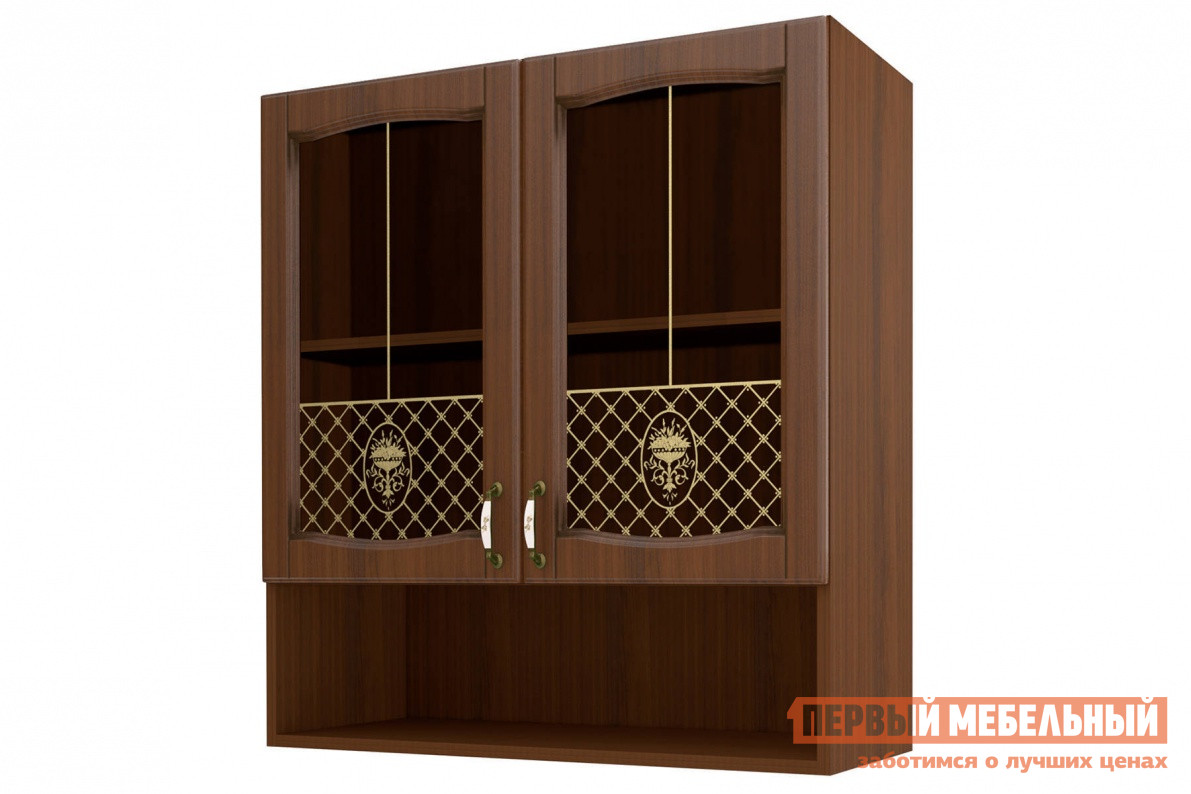 Шкаф-витрина равенна темная в-90 с нишей шкаф-витрина 90, с .