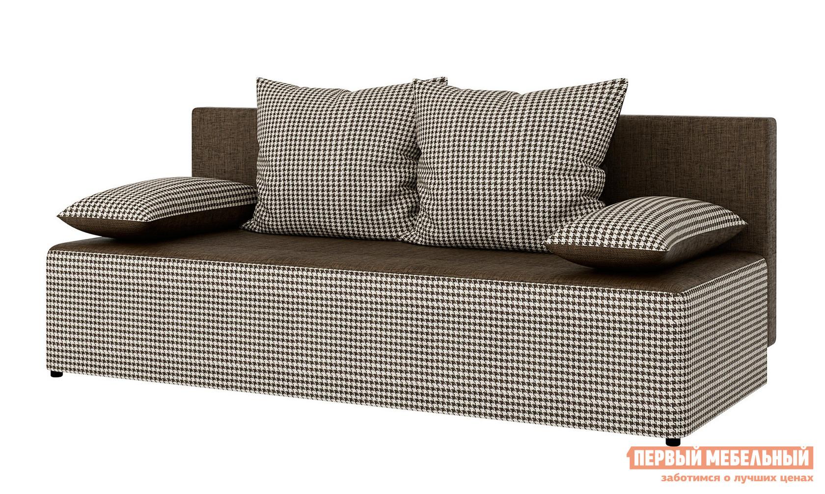 Диван СтолЛайн Луис Pepitka C11+C99 / Panama uni 230Диваны<br>Габаритные размеры ВхШхГ 730x1850x800 мм. Прямой диван без подлокотников Луис выглядит стильно и легко.  Модель сделана в приятных бежевых или коричневых оттенках с оформлением подушек и основания классической тканью в рубчик.  Диван достаточно универсален для гостиной, молодежной комнаты или современной квартиры-студии.  Компактные размеры этой модели позволят визуально не нагружать пространство, сделав его уютным и комфортным. Диван раскладывается, образуя спальное место 1300 х 1850 мм.  Модель может выступать и как часть зоны для отдыха, и как полноценная кровать в комнате.  Механизм «еврокнижка» удобен и прост в использовании, раскладывание дивана занимает считанные мгновения.  Внутри спрятано отделение для постельных принадлежностей.  В комплекте четыре декоративные подушкиТкань на основании и спинке — практичная однотонная рогожка.  Для наполнения используется ППУ.<br><br>Цвет: Коричневый<br>Цвет: Бежевый<br>Высота мм: 730<br>Ширина мм: 1850<br>Глубина мм: 800<br>Кол-во упаковок: 2<br>Форма поставки: В разобранном виде<br>Срок гарантии: 18 месяцев<br>Тип: Прямые<br>Тип: Диван-кровать<br>Материал: Ткань<br>Механизм трансформации: Еврокнижка