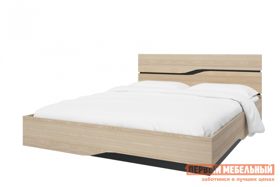 Кровать СтолЛайн СТЛ.187.04 Ясень Песочный, Без ортопедического основанияДвуспальные кровати<br>Габаритные размеры ВхШхГ 850x1645x2060 мм. Оригинальная кровать в современном стиле понравится любителям модерна. Фасад и изголовье кровати декорированы геометричнымми вставками цвета «Дуб Ферарра», что придает ей футуристический образ. Корпус выполнен из качественной ЛДСП. Размер спального места составляет 1600х2000 мм. При заказе необходимо выбрать удобную для вас комплектацию — с ортопедическим основанием или без него.  Обратите внимание! Кровать продается без матраса, подходящие варианты матрасов вы можете найти в разделе «Аксессуары».<br><br>Цвет: Светлое дерево<br>Высота мм: 850<br>Ширина мм: 1645<br>Глубина мм: 2060<br>Форма поставки: В разобранном виде<br>Срок гарантии: 18 месяцев<br>Тип: Простые<br>Материал: Дерево<br>Материал: ЛДСП<br>Размер: Спальное место 160Х200<br>С ортопедическим основанием: Да<br>Без изножья: Да<br>Без подъемного механизма: Да
