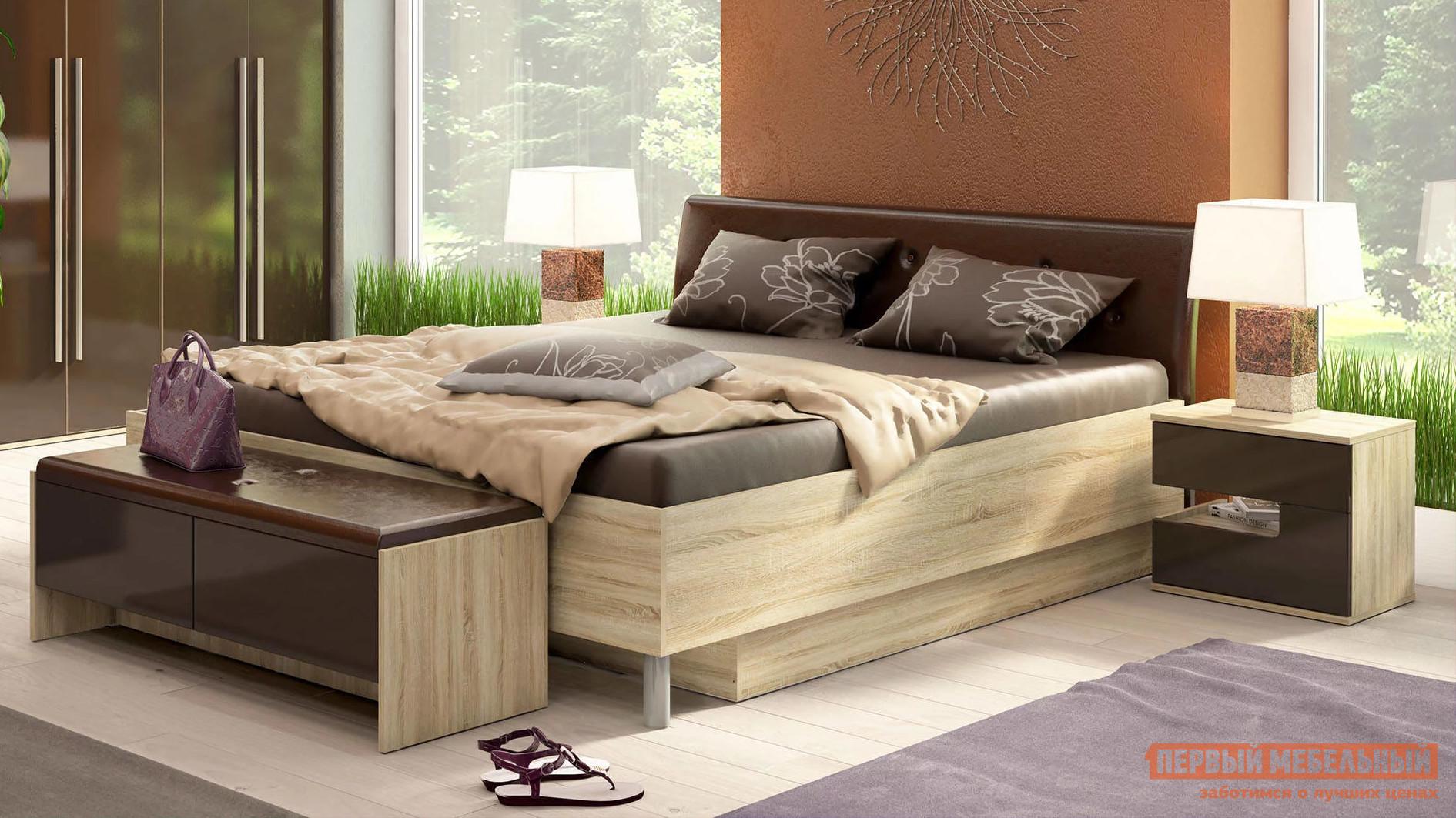 Двуспальная кровать СтолЛайн СТЛ.143.06+СТЛ.143.07 двуспальная кровать столлайн стл 187 04 187 07