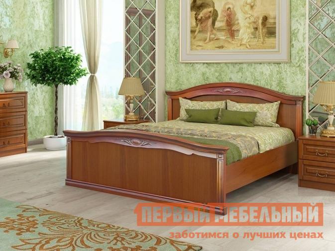 Кровать СтолЛайн СТЛ.214.04+СТЛ.214.06 Итальянский орехДвуспальные кровати<br>Габаритные размеры ВхШхГ 1025x1785x2090 мм. Роскошная двуспальная кровать со спальным местом 1600х2000 мм, изготовленная в классическом стиле, непременно, станет центральным элементом вашей спальни.  Фасады украшены объемным узором, который дополняет насыщенный цвет изделия.  Кровать оснащена коробом с подъемным механизмом.  Такая конструкция позволит сэкономить вам место, ведь, в отсеках под матрасом поместятся постельное белье, подушки и одеяло. Каркас кровати выполнен из КДСП. Обратите внимание! Кровать продается без матраса, подходящие варианты матрасов вы можете найти в разделе «Аксессуары».<br><br>Цвет: Красное дерево<br>Высота мм: 1025<br>Ширина мм: 1785<br>Глубина мм: 2090<br>Форма поставки: В разобранном виде<br>Срок гарантии: 18 месяцев<br>Тип: Простые<br>Материал: Дерево<br>Материал: ЛДСП<br>Размер: Спальное место 160Х200<br>С ортопедическим основанием: Да<br>Без подъемного механизма: Да