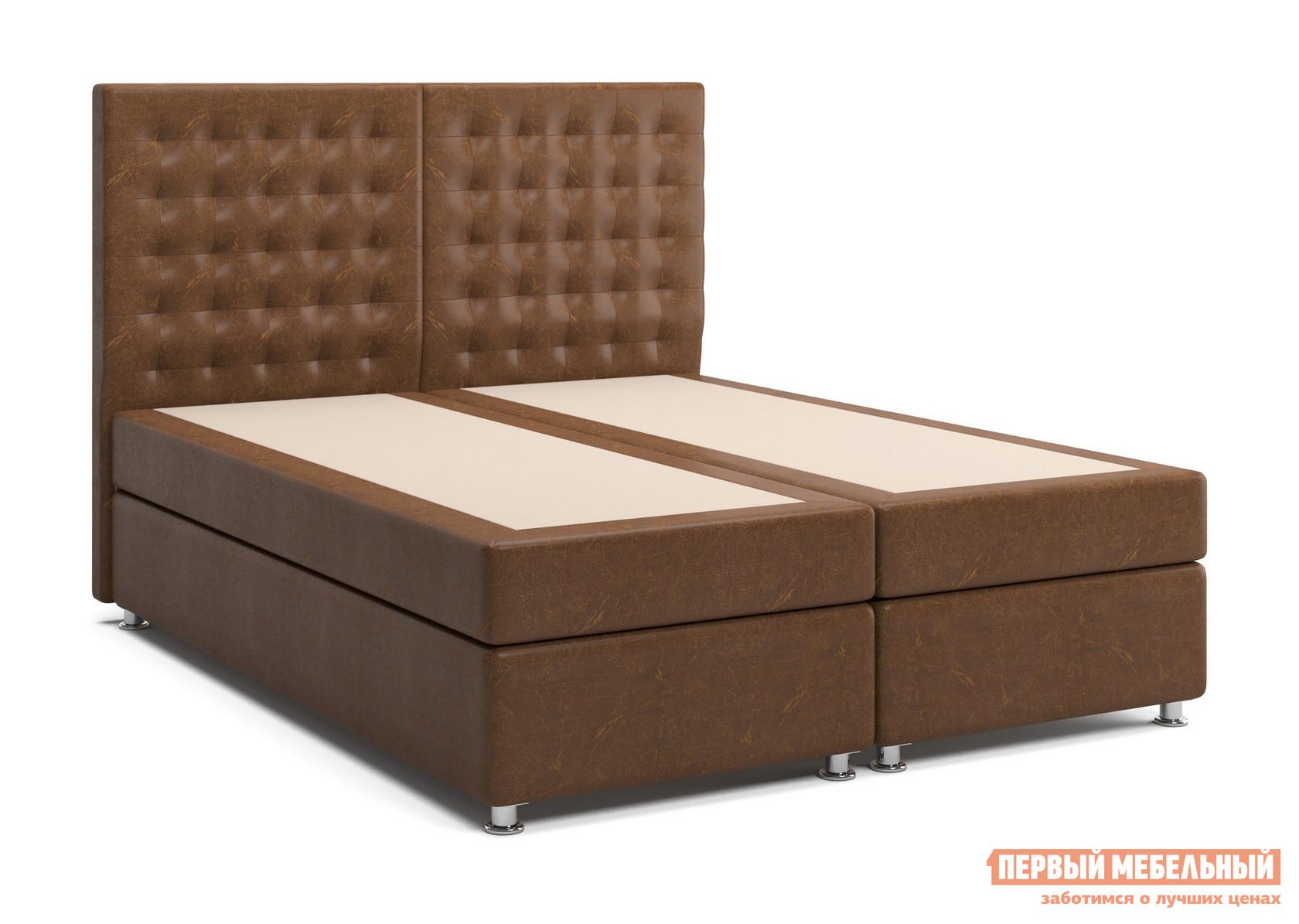 Двуспальная кровать с матрасом СтолЛайн Парадиз 2 (матрасы «Боннель», 2 шт.)